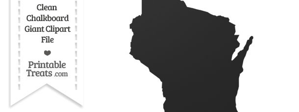 Clean Chalkboard Giant Wisconsin State Clipart