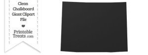Clean Chalkboard Giant Wyoming State Clipart