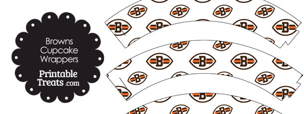 Cleveland Browns Logo with White Background Cupcake Wrappers