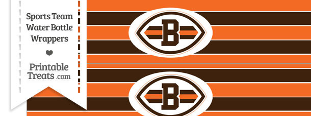 Cleveland Browns Water Bottle Wrappers