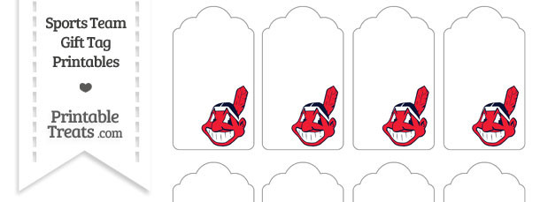 photo about Indians Schedule Printable known as Cleveland Indians Present Tags Printable