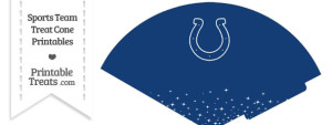 Colts Treat Cone Printable
