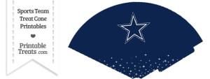 Cowboys Treat Cone Printable