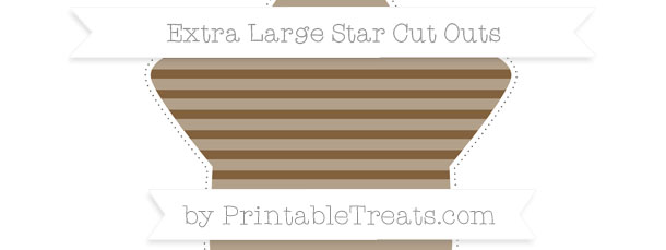 Coyote Brown Horizontal Striped Extra Large Star Cut Outs
