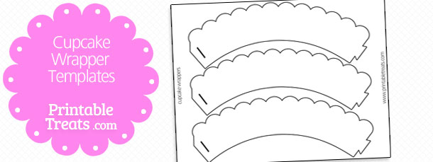 Cupcake Wrapper Template Printable Treats
