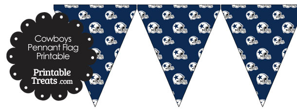 Dallas Cowboys Football Helmet Pennant Banners