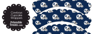 Dallas Cowboys Football Helmet Scalloped Cupcake Wrappers