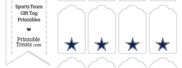 Dallas Cowboys Gift Tags