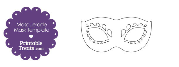 Decorative masquerade mask template printable treats decorative masquerade mask template pronofoot35fo Gallery