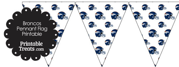 Denver Broncos Football Helmet Pennant Banners