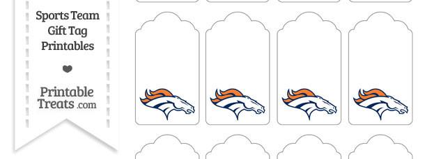 Denver Broncos Gift Tags