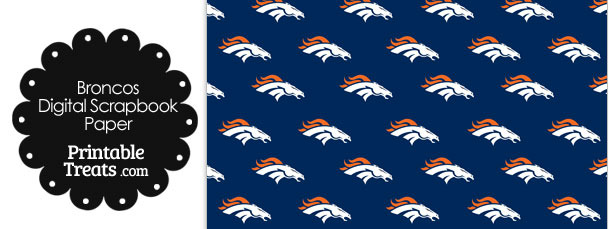 Denver Broncos Logo Digital Paper