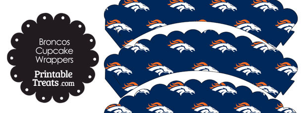 Denver Broncos Logo Scalloped Cupcake Wrappers