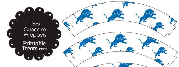Detroit Lions Logo Cupcake Wrappers