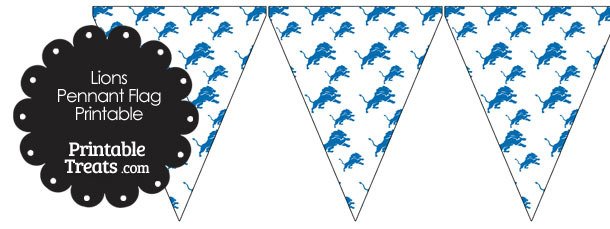 Detroit Lions Logo Pennant Banners