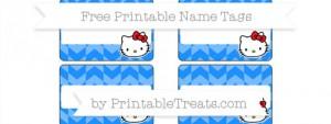 Free Cardinal Red Striped Whale Name Tags — Printable Treats.com