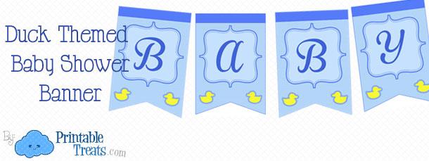 duck baby shower banner