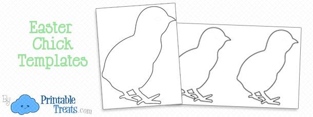 easter chick template printable printable treats com