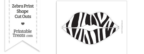Extra Large Zebra Print Lips Cut Out