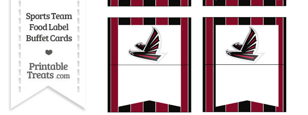 Falcons Food Label Buffet Cards
