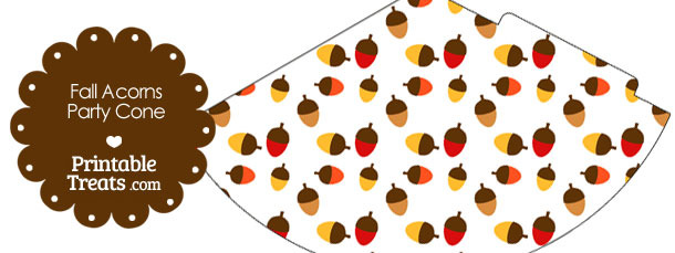 Fall Acorns Party Cone