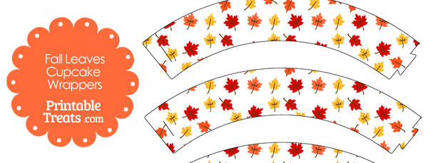 Fall Leaves Cupcake Wrappers