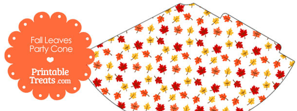 Fall Leaves Party Cone