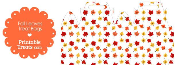 Fall Leaves Treat Bag
