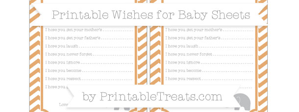 Fawn Chevron Baby Elephant Wishes For Baby Sheets