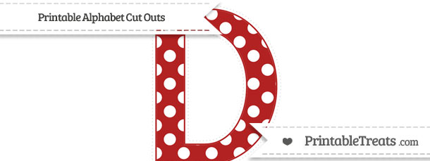 Free Fire Brick Red Polka Dot Extra Large Capital Letter D