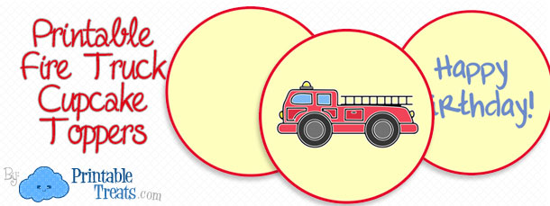 free-fire-truck-cupcake-toppers