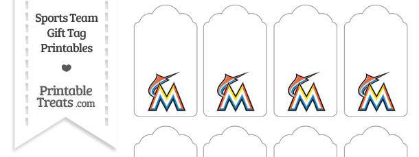 Florida Marlins Gift Tags