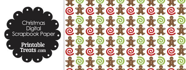 Gingerbread Cookie Digital Scrapbook Paper