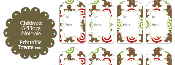 Gingerbread cookie gift tags printable treats gingerbread cookie gift tags negle Choice Image
