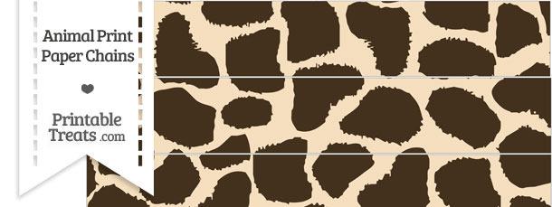 Giraffe Print Paper Chains