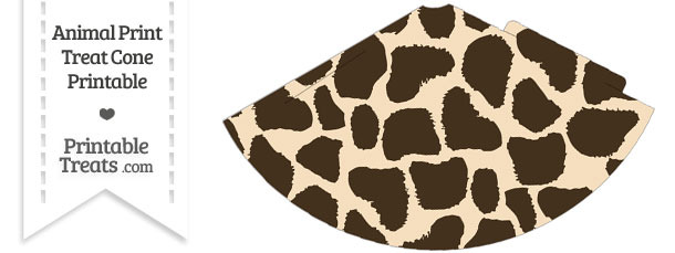 Giraffe Print Party Cone