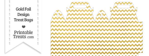 Gold Foil Chevron Treat Bag