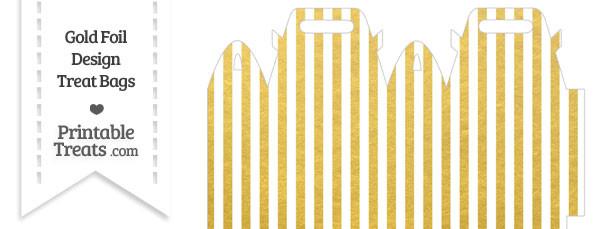 Gold Foil Stripes Treat Bag