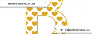 free-gold-heart-pattern-extra-large-capital-letter-b-cut-outs-to-print