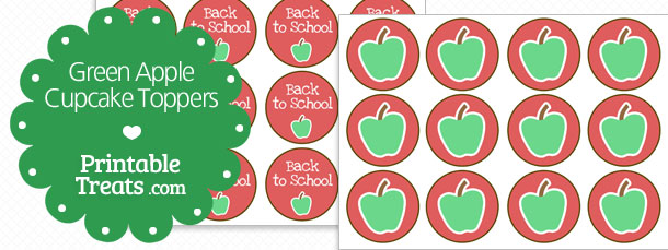 free-green-apple-cupcake-toppers