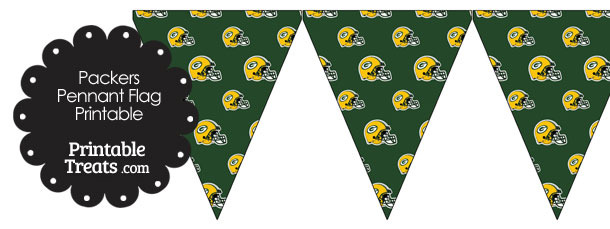 Green Bay Packers Football Helmet Pennant Banners