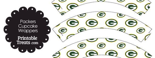 Green Bay Packers Logo Cupcake Wrappers