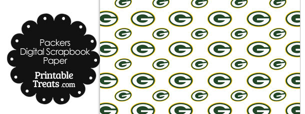 Green Bay Packers Logo Digital Paper