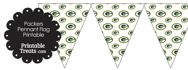 Green Bay Packers Logo Pennant Banners