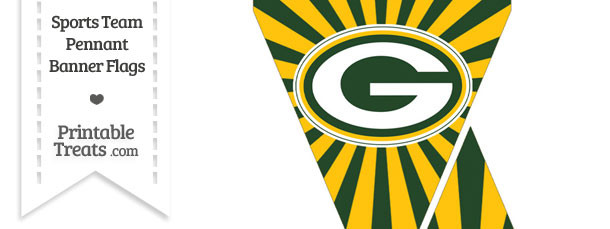 Green Bay Packers Mini Pennant Banner Flags