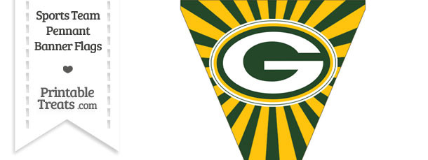 Green Bay Packers Pennant Banner Flag