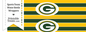 Green Bay Packers Water Bottle Wrappers