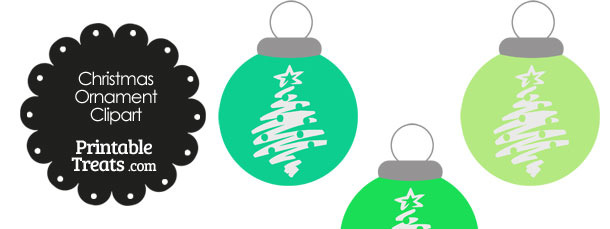 Green Christmas Tree Christmas Ornament Clipart