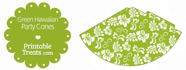 free-green-hawaiian-pattern-party-cones