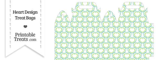 Green Heart Design Treat Bag